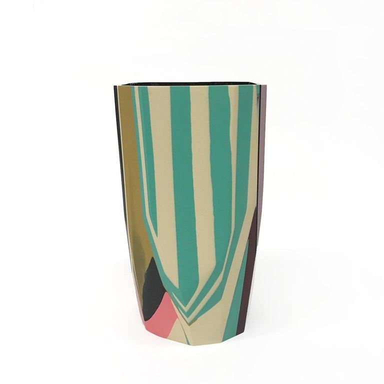 American Unique Contemporary Cast Resin Puglia Vase by Elyse Graham For Sale