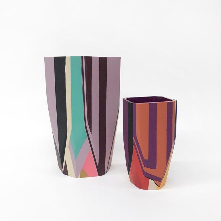 Unique Contemporary Cast Resin Puglia Vase by Elyse Graham For Sale 2