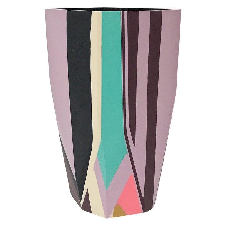 Unique Contemporary Cast Resin Puglia Vase by Elyse Graham For Sale