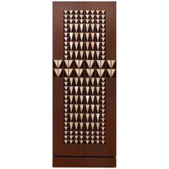 Contemporary Geometric Cabinet with Onyx Stone