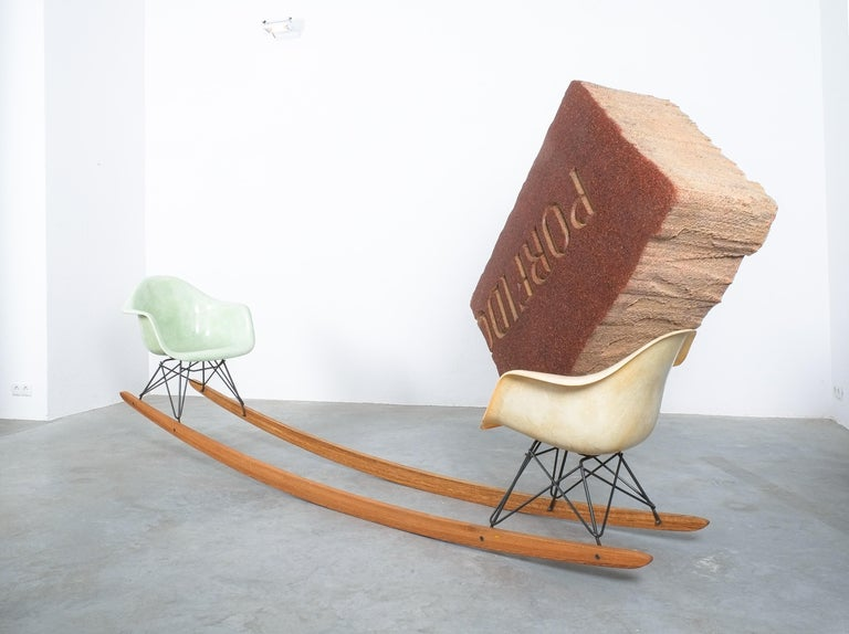 Unique Contemporary Rocking Armchair Relation by Bert Loeschner For Sale 3