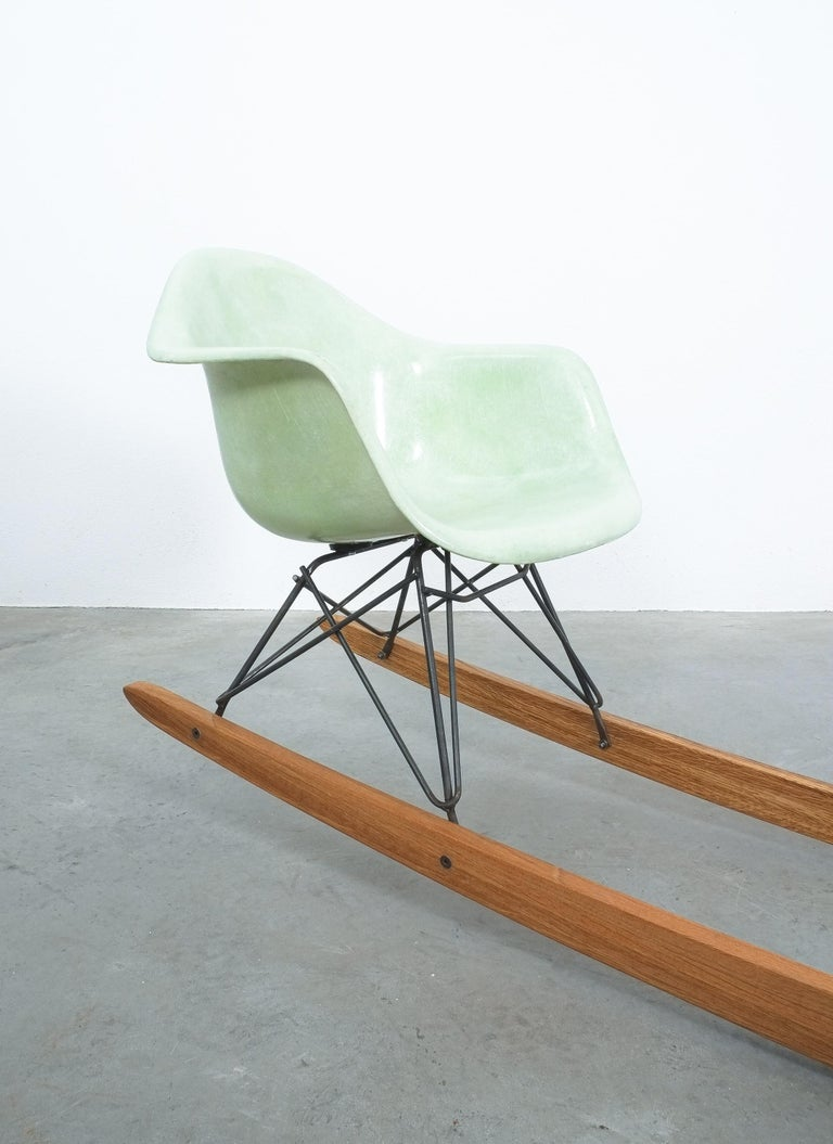 Austrian Unique Contemporary Rocking Armchair Relation by Bert Loeschner For Sale
