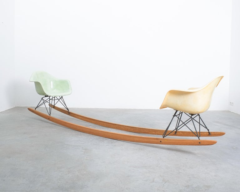 Epoxy Resin Unique Contemporary Rocking Armchair Relation by Bert Loeschner For Sale