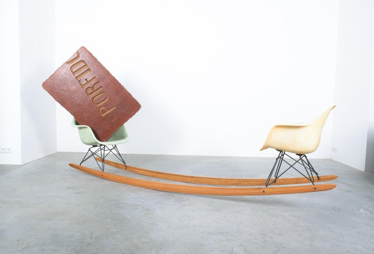 Unique Contemporary Rocking Armchair Relation by Bert Loeschner For Sale 1