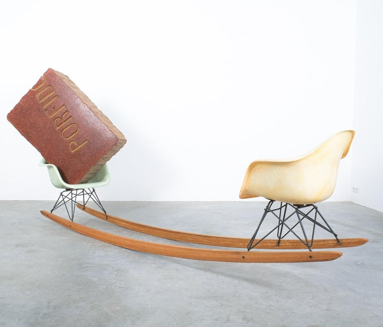 Unique Contemporary Rocking Armchair Relation by Bert Loeschner For Sale 2