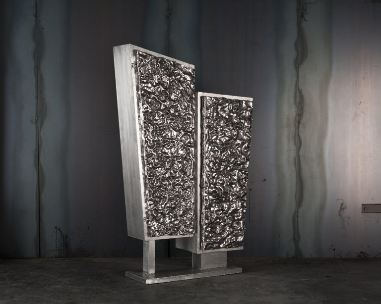 Unique Crinkle Cabinet, Signed by Michael Gittings For Sale 1