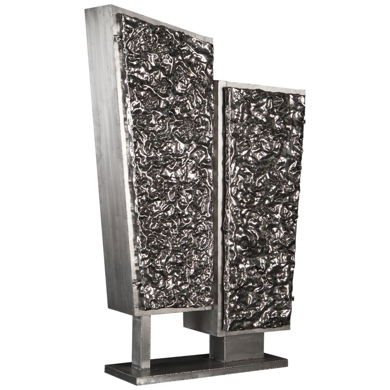 Unique Crinkle Cabinet, Signed by Michael Gittings For Sale