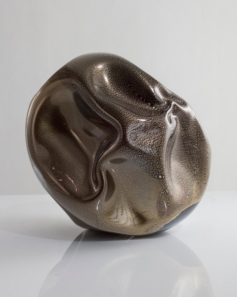 Unique Crumpled Sculptural Vessel Designed and Made by Jeff Zimmerman In New Condition For Sale In New York, NY