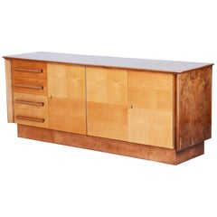 Unique Czech Maple Mid-Century Sideboard, 1950s, Well Preserved Condition