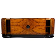 Unique Czech Walnut Art Deco Saloon Sideboard by Jindrich Halabala, UP Zavody
