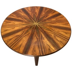 Unique Danish Midcentury Starburst Table