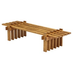 Unique Design by Amsterdam Architect, Coffee Table\Bench, Netherlands, c. 1960