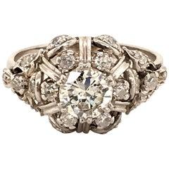Unique Diamond Ring in Platinum 950