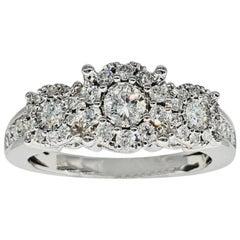 Unique Diamonds 1.50 Carat Engagement Ring 14 Karat White Gold