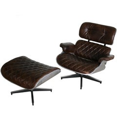 Unique Eames Lounge Chair and Ottoman Aviator Style