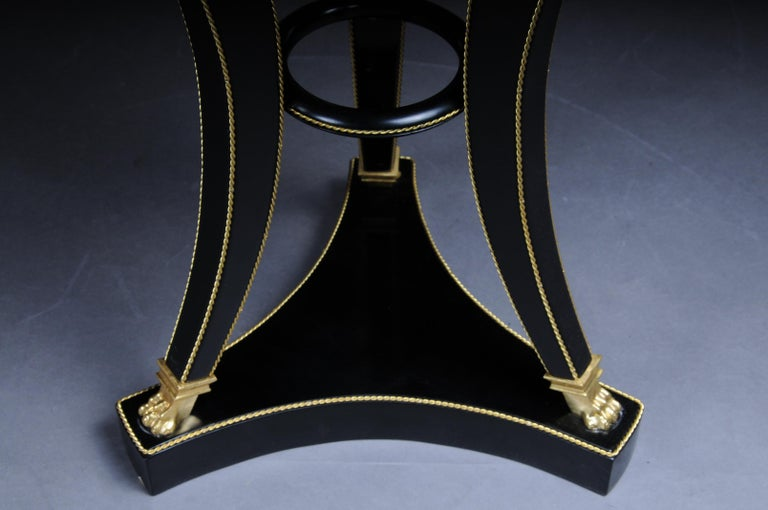Unique Ebonized Side Table or Pillar in the Empire Style For Sale 4