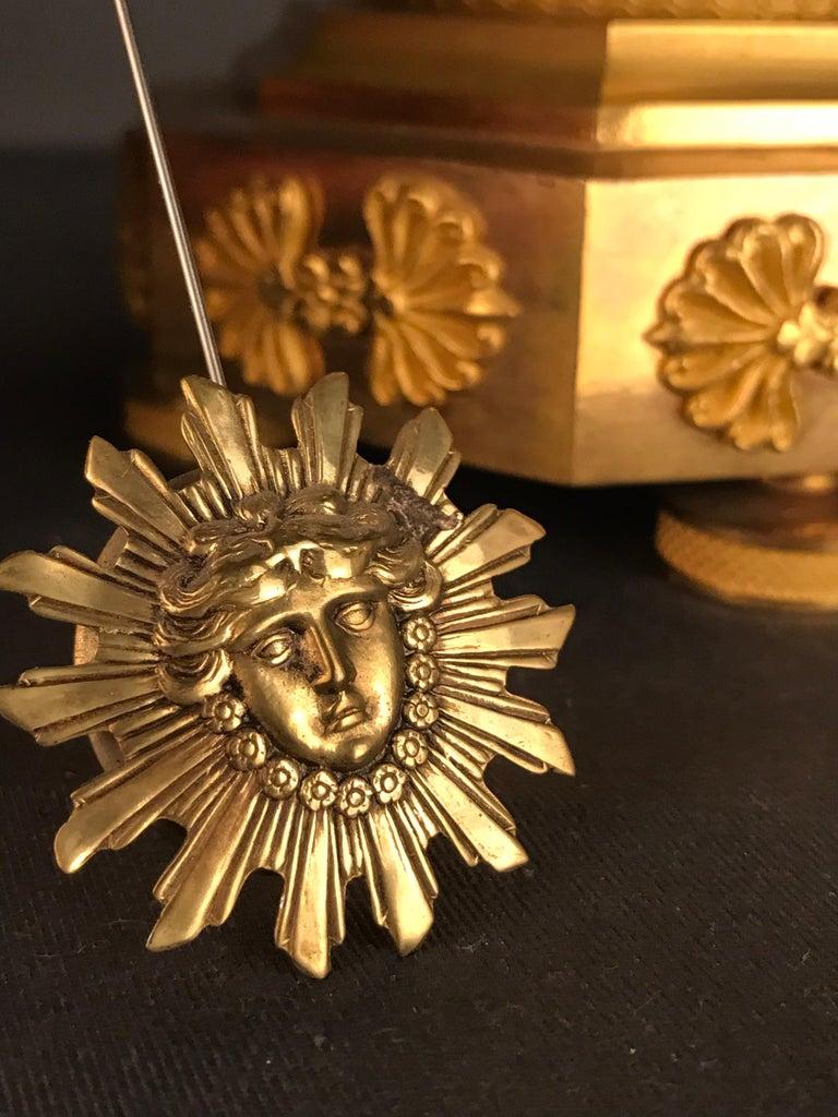Einzigartige Empire Bronze Uhr, Pendel, feuervergoldeten, um 1810 11