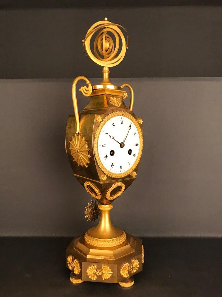 Einzigartige Empire Bronze Uhr, Pendel, feuervergoldeten, um 1810 2