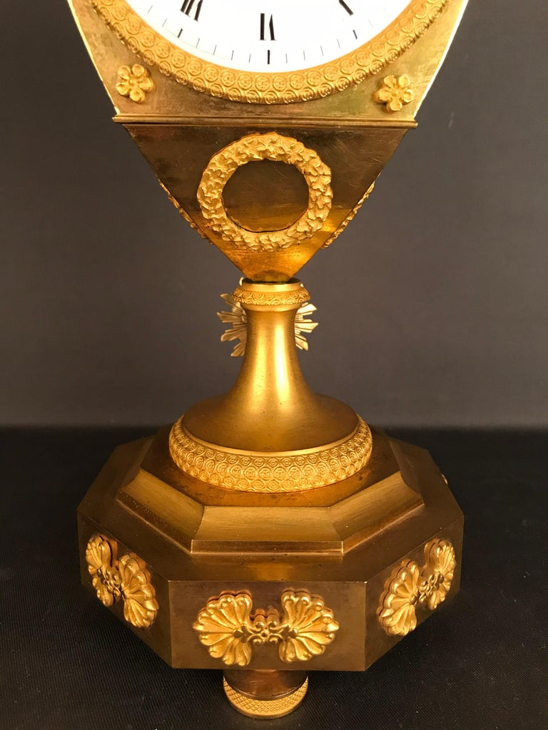 Einzigartige Empire Bronze Uhr, Pendel, feuervergoldeten, um 1810 5