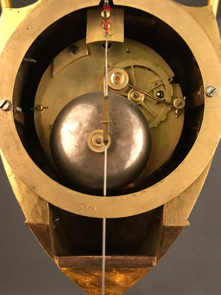 Einzigartige Empire Bronze Uhr, Pendel, feuervergoldeten, um 1810 9