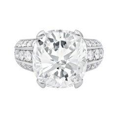 Unique Engagement Ring with Cushion Cut Diamond Center