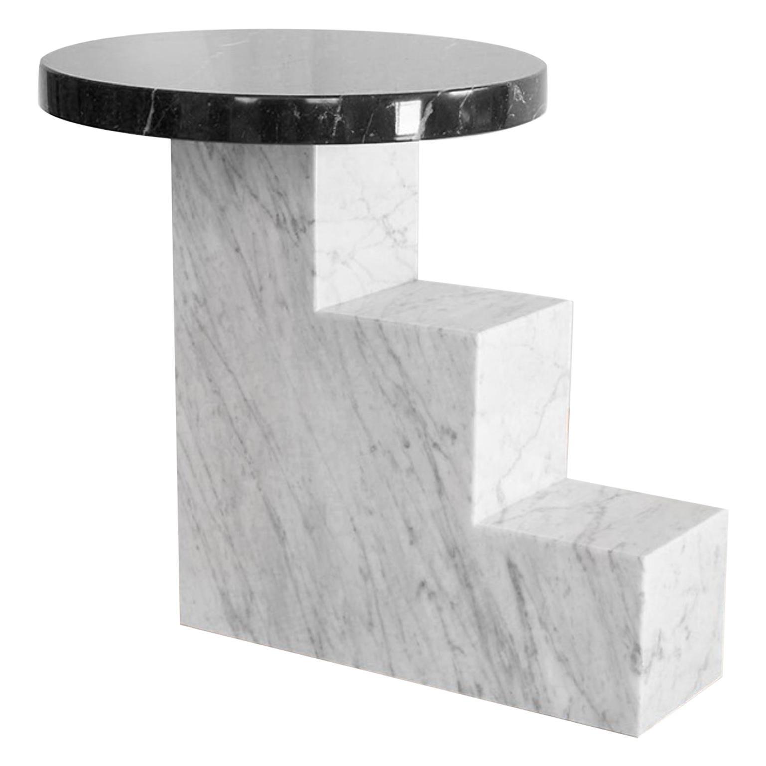 Unique Escalier and Black Marble Table by Jean-Baptiste Van den Heede