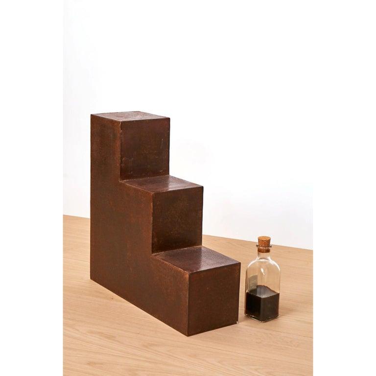 Spanish Unique Escalier Metal Side Table by Jean-Baptiste Van den Heede For Sale