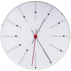 Unique Extra Large Bankers Wall Clock by Arne Jacobsen for Gefa