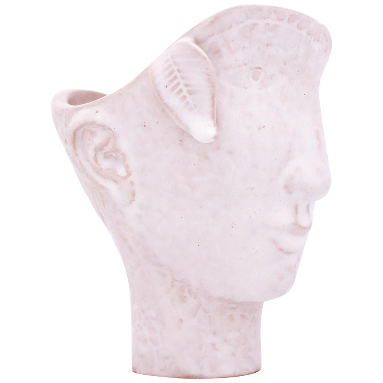 Unique Face Sculpture or Vase, Stig Lindberg Gustavsberg