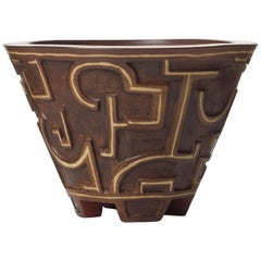 Unique Farsta Stoneware Bowl by Wilhelm Kåge for Gustavsberg
