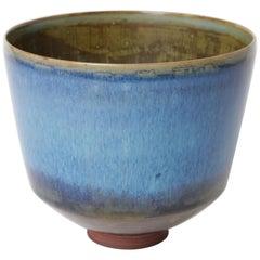 Unique Farsta Stoneware Bowl by Wilhelm Kåge Gustavsberg, 1956