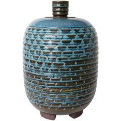Unique Farsta Stoneware Lidded Urn by Wilhelm Kåge Gustavsberg, 1960