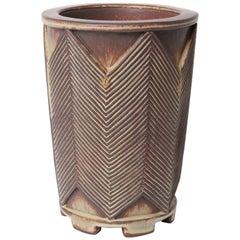 Unique Farsta Stoneware Vase by Wilhelm Kåge Gustavsberg, 1951