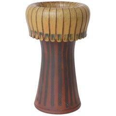 Unique Farsta Stoneware Vase by Wilhelm Kåge Gustavsberg, 1956