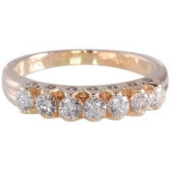 Unique Floating Design .77 Carat TW Diamond Anniversary/Wedding Band 14K YG