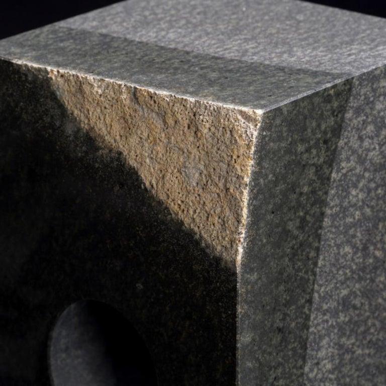 Modern Unique Floor Lamp, Daté Kan Stone Design by Okurayama For Sale