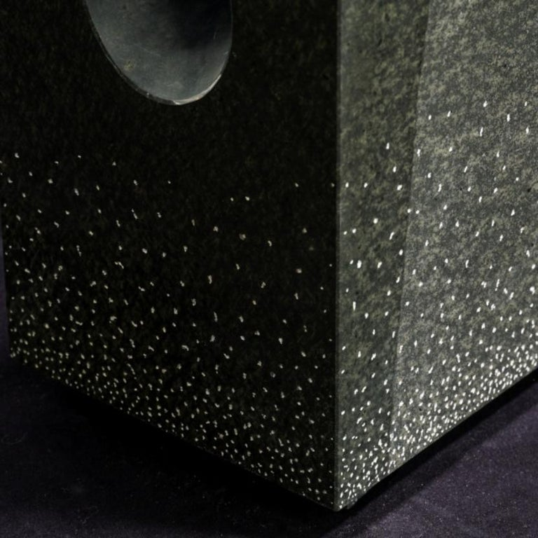 Japanese Unique Floor Lamp, Daté Kan Stone Design by Okurayama For Sale