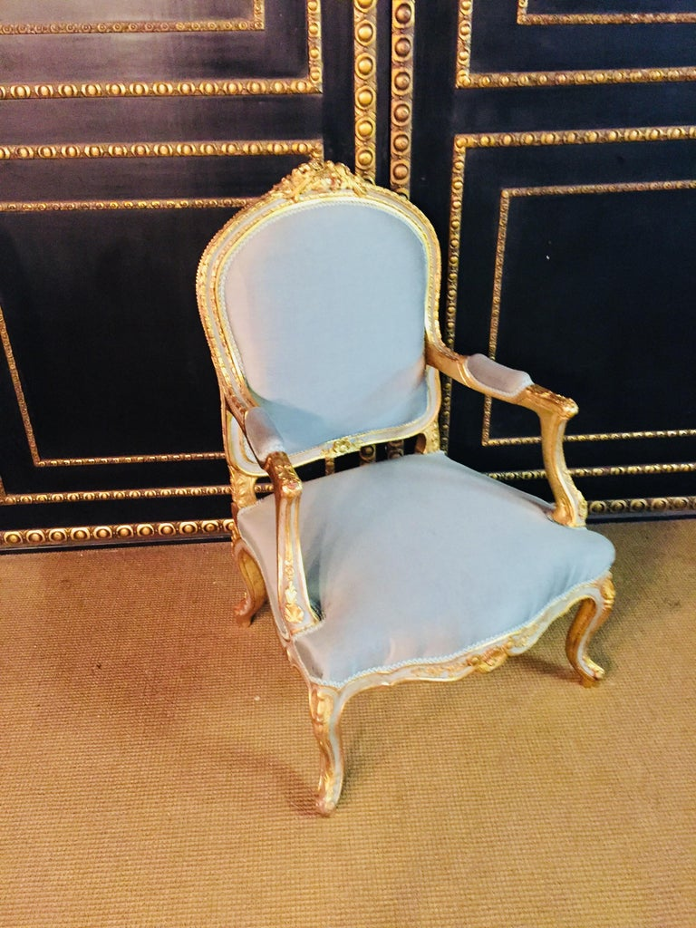 Unique French Armchair in Louis Quinze Style For Sale 6