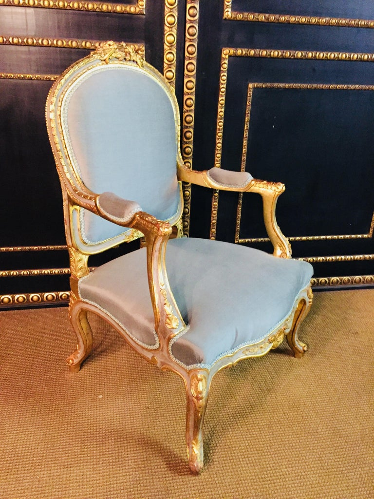Unique French Armchair in Louis Quinze Style For Sale 7