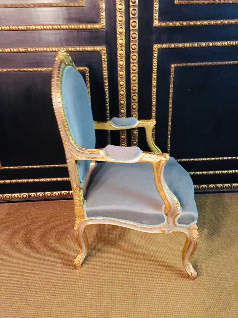Unique French Armchair in Louis Quinze Style For Sale 8