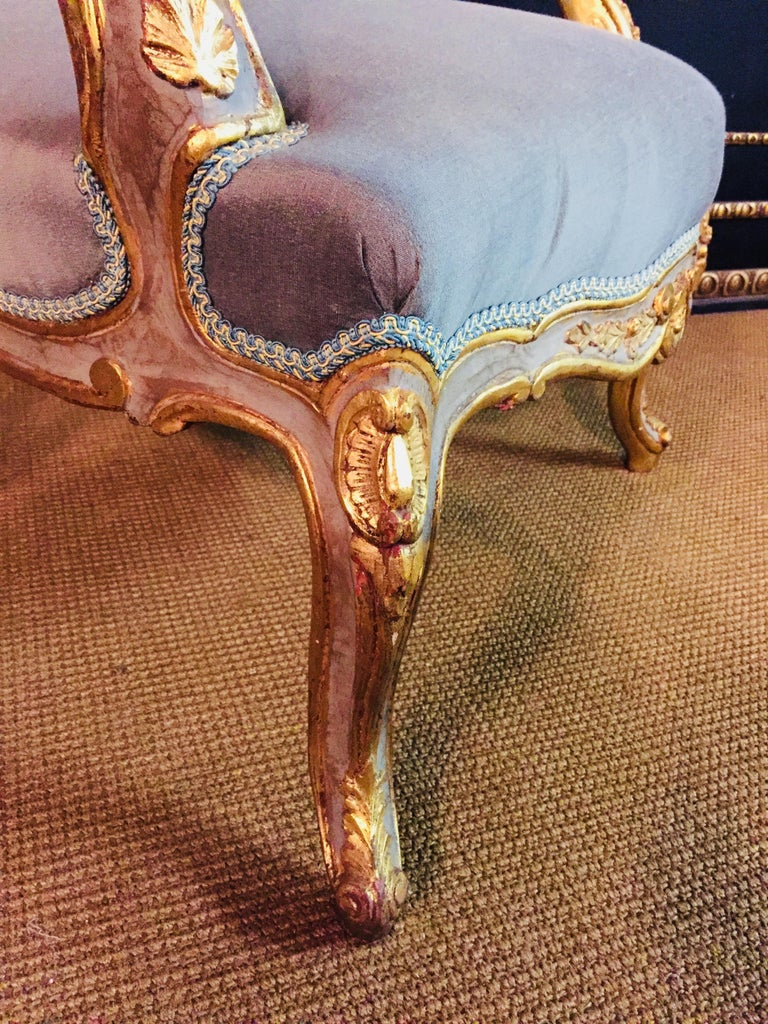 Unique French Armchair in Louis Quinze Style For Sale 12