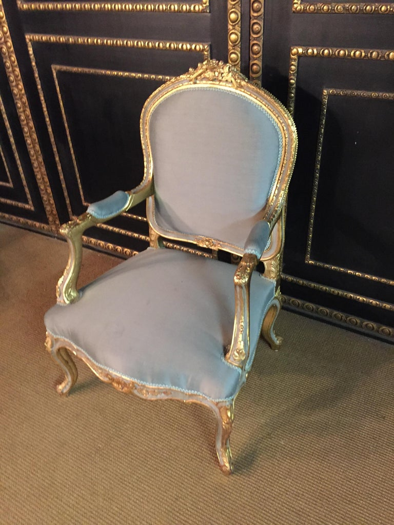 Louis XV Unique French Armchair in Louis Quinze Style For Sale