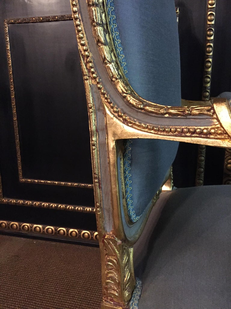 Unique French Armchair in Louis Quinze Style For Sale 1