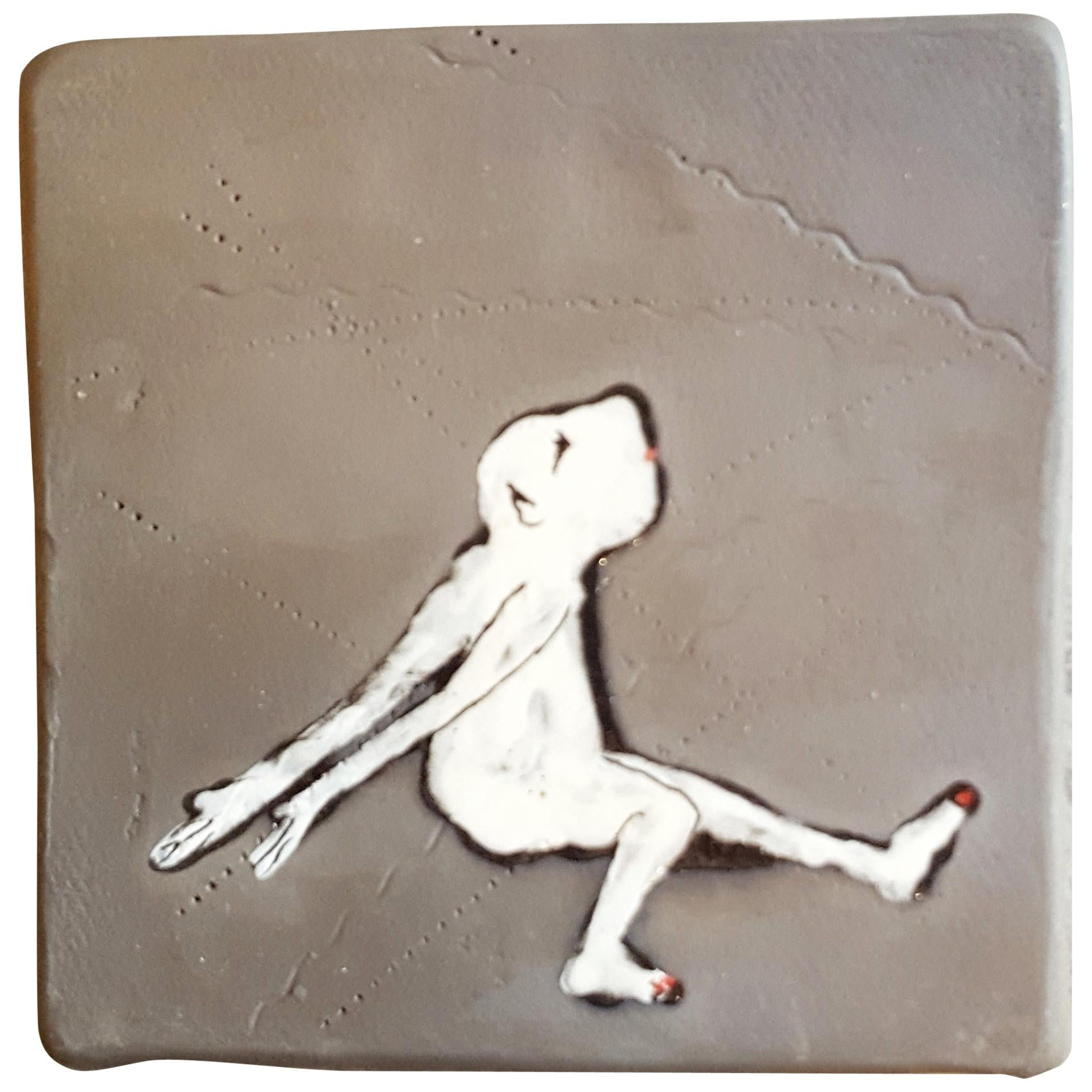 Unique French Artist's Ceramic Square Decorative Panels