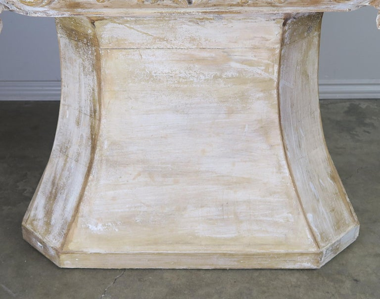 Mid-20th Century Unique French Carved Wood Dining or Center Table, circa 1930s For Sale