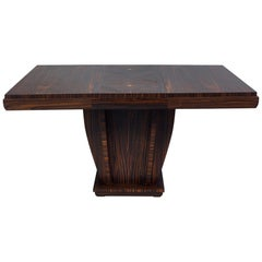 Unique French Large Macassar Art Deco Extendable Dining Table