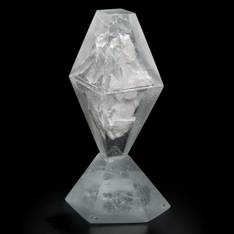 Organic Modern Unique Frost, a Clear Unique Glass Sculpture by Lene Tangen For Sale