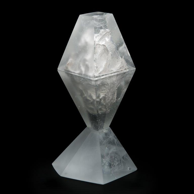 Norwegian Unique Frost, a Clear Unique Glass Sculpture by Lene Tangen For Sale