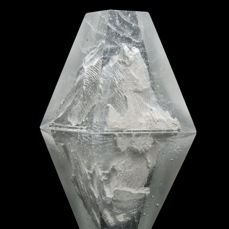 Unique Frost, a Clear Unique Glass Sculpture by Lene Tangen In New Condition For Sale In London, GB