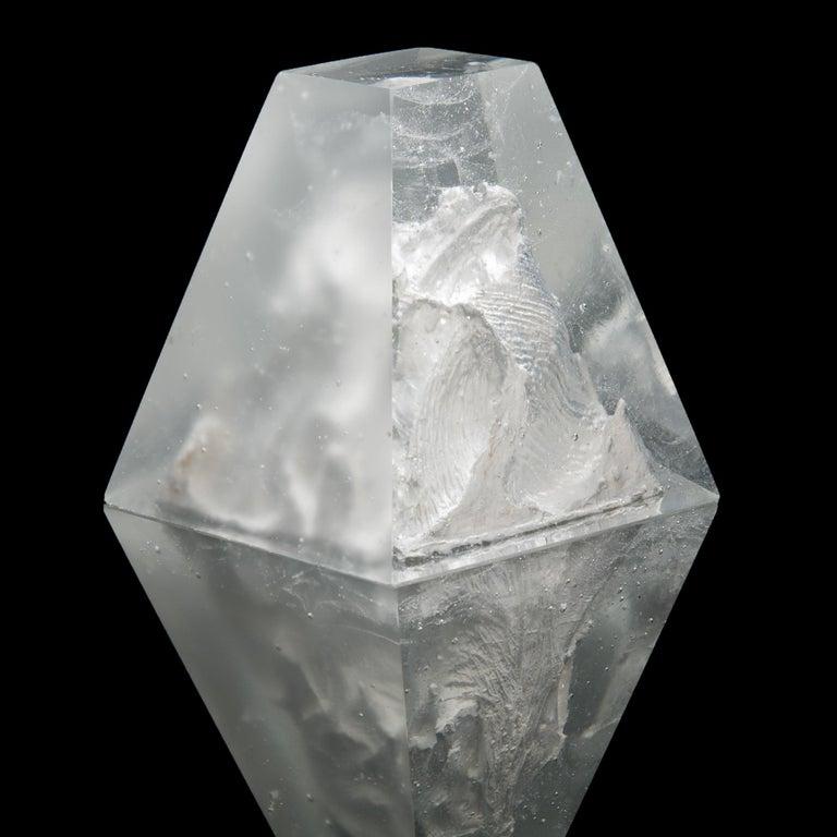 Contemporary Unique Frost, a Clear Unique Glass Sculpture by Lene Tangen For Sale
